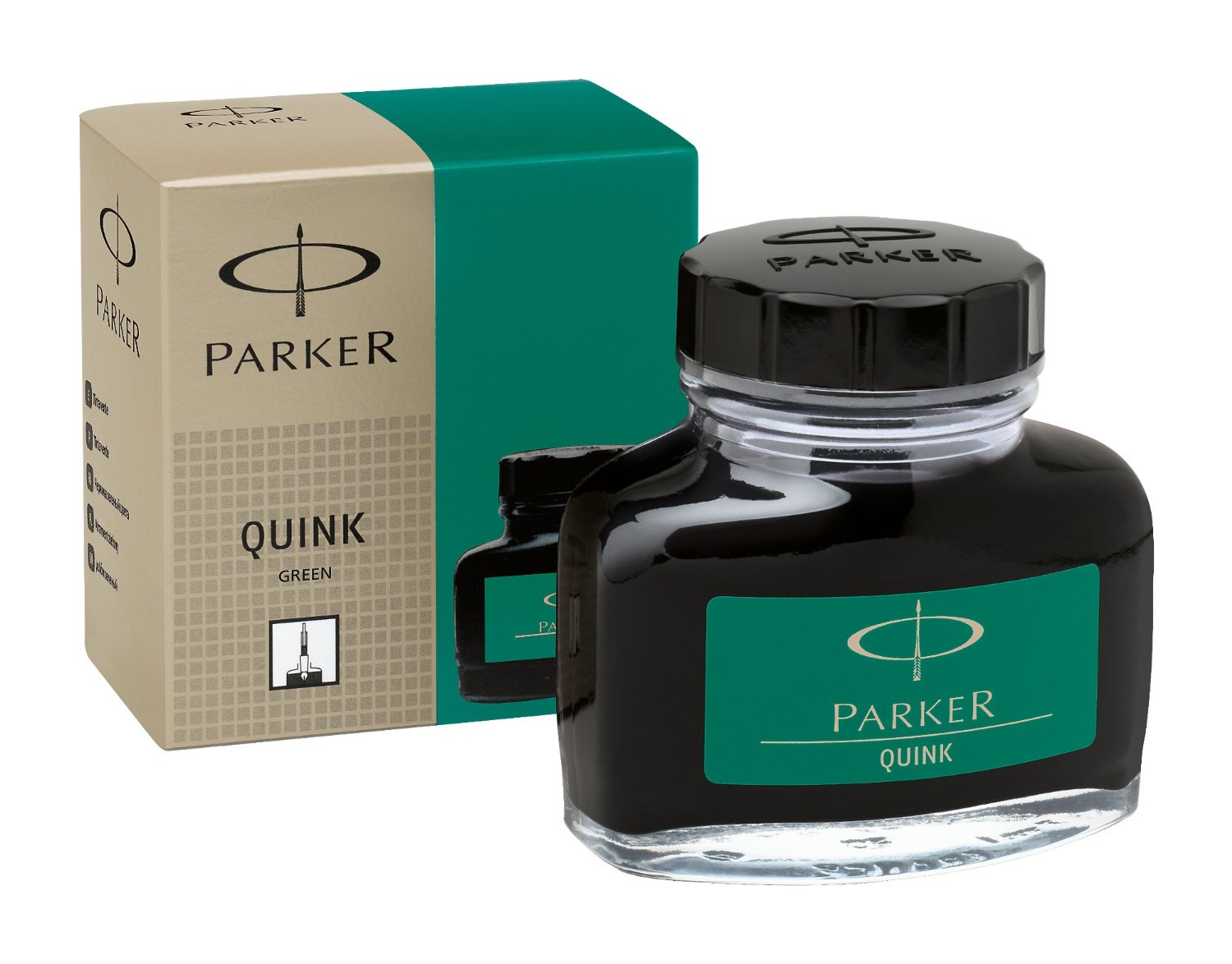 Parker Super Quink Permanent Ink for Parker Pens, 2-oz. Bottle, Green Ink