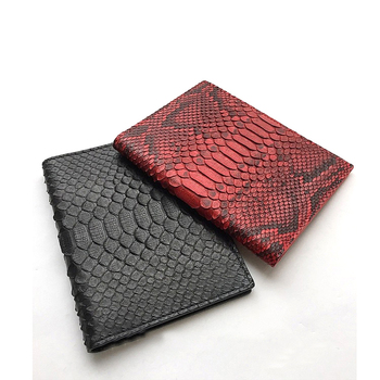 a48d4876d4e8 China Supplier High Quality Python Leather Passport Wallet Documents  Package Card Holder Snake Skin Passport Case