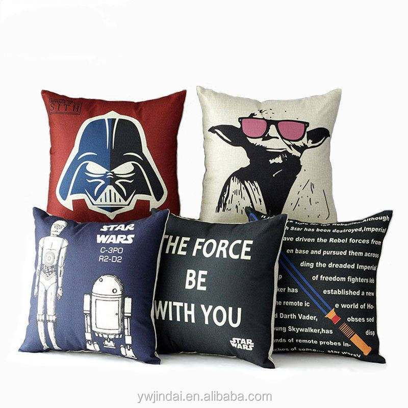 Creatives Sci-Fi Movie Character Cotton Linen Cover 45X45Cm Square Cafe Digital Printing Covers Throw