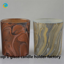 New design glass canlde holder for halloween party home decoration/Tea light candles house