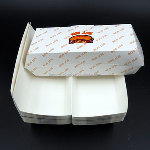 Disposable Hot Food Package Logo Printing Cardboard Hot Dog Box