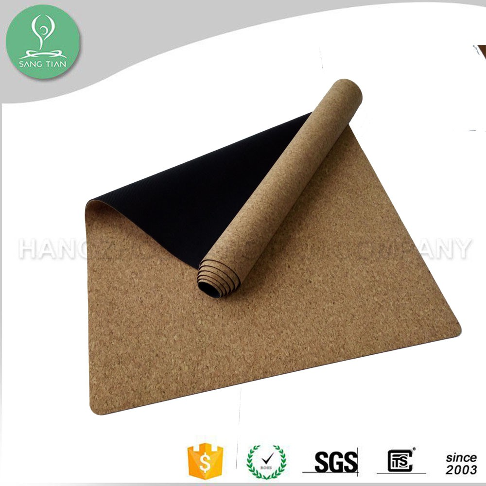 Custom Gymnastics Mat Natural Non Slip Yoga Mat Cork Eco