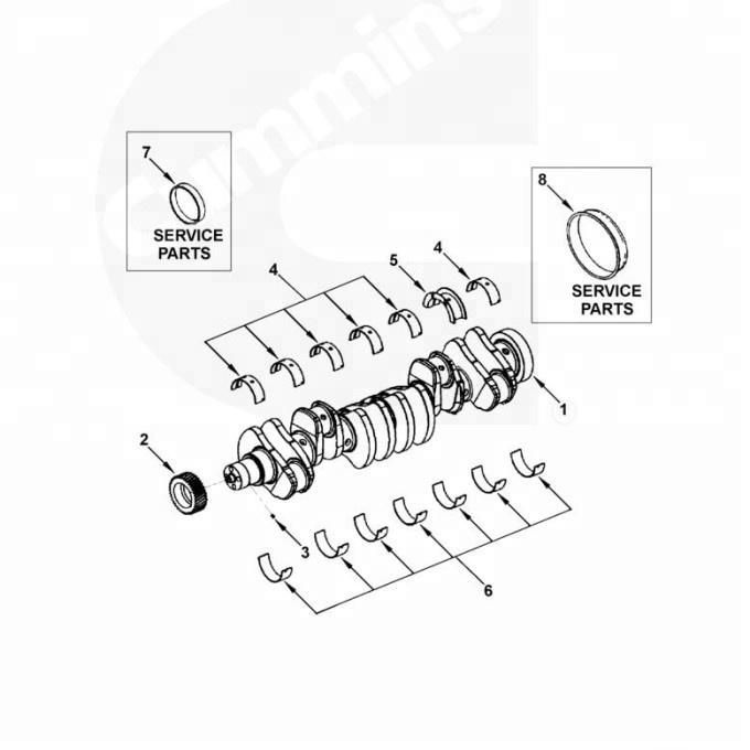 Dcec Heavy Truck 4955860 Set Main Bearing 010 6bt Spare Parts