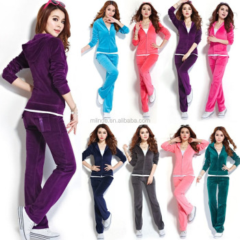 3f8ba854 Women's Velour Hoodie & Pant Tracksuit Sport Sweat Suit Set Womens Custom  Team Sportswear Track Suit