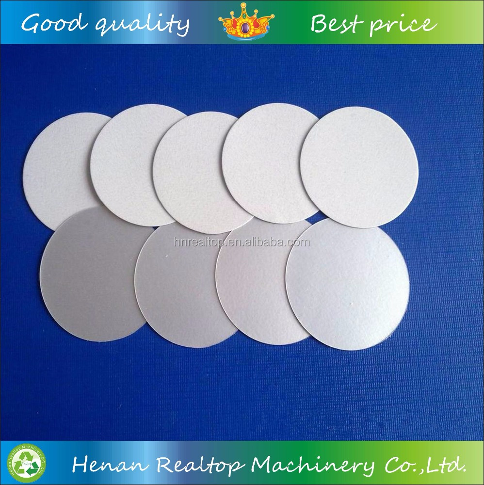 Induction foil sealing HDPE film bottle caps liners