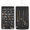 Hanging Non-woven Organizers Closet Door Jewelry Holder 30 Pockets 17 Hook and Loops W/hanger (Black)