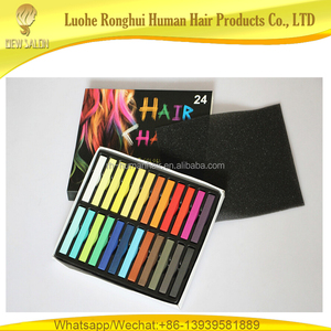 Wholesale temporary dyes 24 color hair chalk