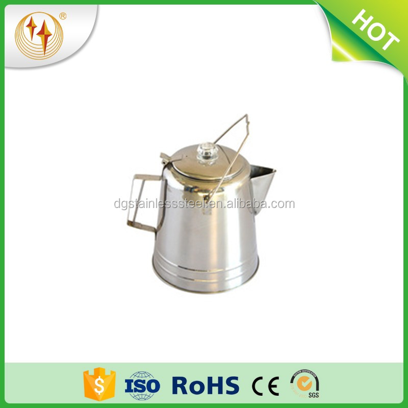 Hebei Dongguang Stainless Steel Percolator Coffee Pot For Outdoor Camping