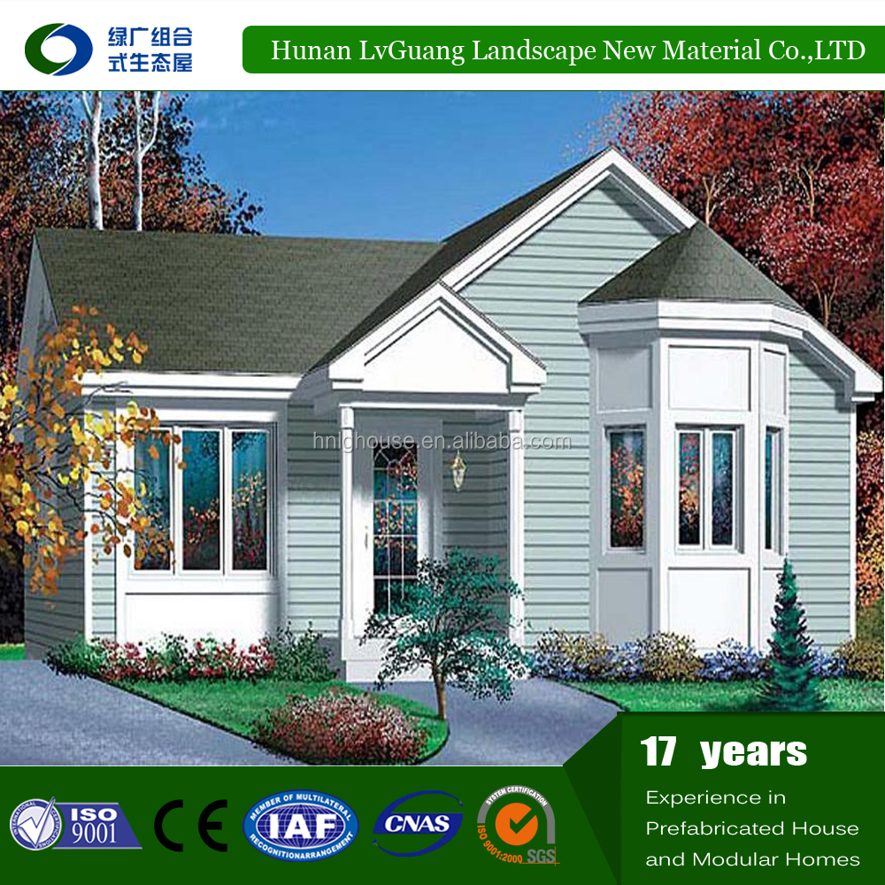 Prefabricated villa wooden log house design for gabon, china apartments cheap 2 bedroom prefab kit homes for sale usa