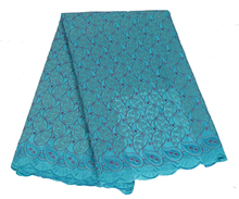 African Embroidered Bridal Swiss Voile Lace Fabric