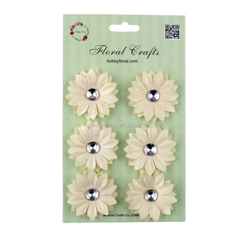 White Daisy Flowers With Rhinestone Center By Recollections