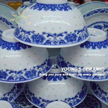 Unique Blue and White Rice Pattern dinnerware & Unique Blue And White Rice Pattern Dinnerware - Buy Blue And White ...
