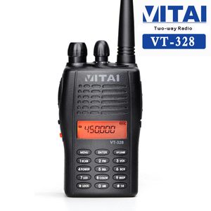 VITAI VT-328 128CH VHF/UHF 136-174/400-470MHz Portable Police Amateur Radio Transceiver