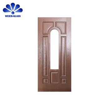 Custom Wooden Front Doors With Glass Entrance Double Glasses Front