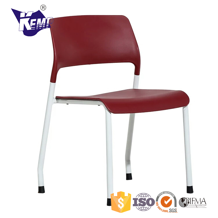 True Design Visitor Stackable Office White Plastic Chair Price