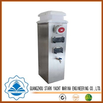 w compartments metered compartmt meter rv electrical power htm with pedestals materials pedestal