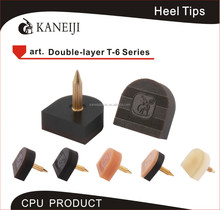 colorful PU shoe repair material heel tips for women high shoe repair material heel tips