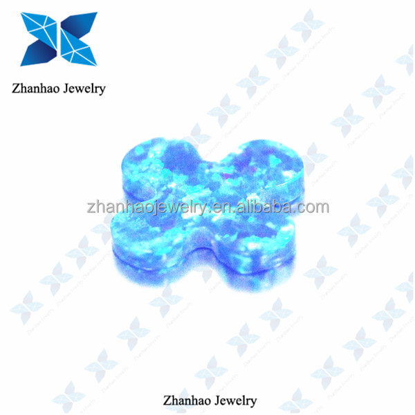 Factory price flower shape cabochon lab created opal