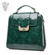 Custom Green Leather Bags Women Fashion Crocodile Green Tote Hand Bag High Quality Genuine Leather Bags
