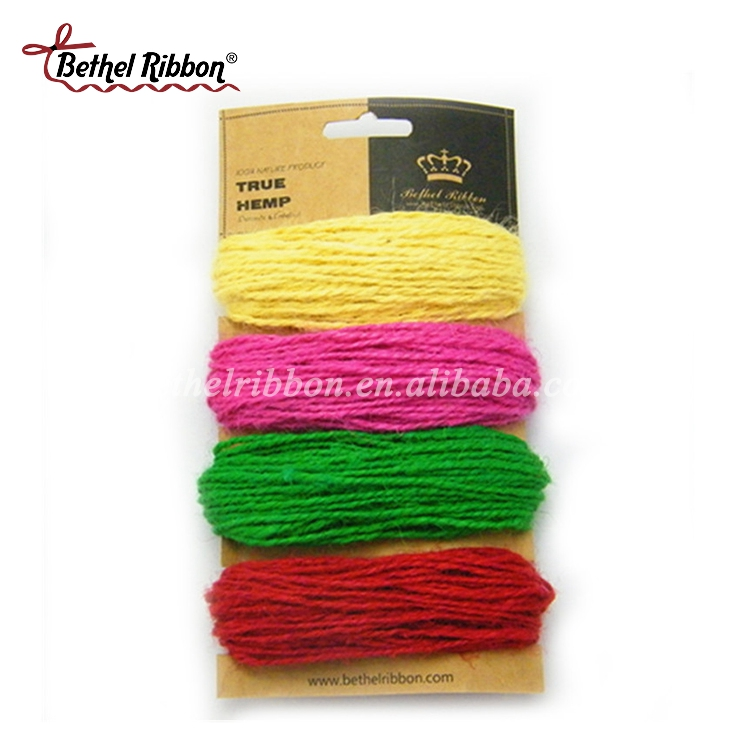 Best seller decoration thin jute hemp rope manufacturer in China