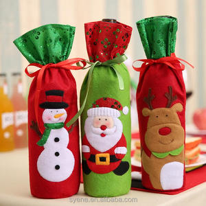 christmas ornaments Holiday Clothing Handmade Wine bag bottle cover christmas decoration