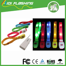 hot sale soft nylon remote controlled led controlled bracelet