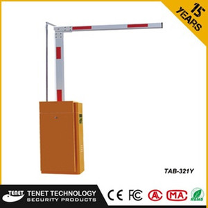 Parking bollard traffic barrier with folding straight fence boom for vehicle access control