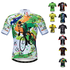 Wholesale Cycling Jersey Men Tops Biking Shirts Short Sleeve Bike Clothing Full Zipper Bicycle Jacket Pockets