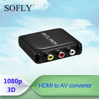Plastic HDMI to AV converter with cable by TV /VHS VCR players /DVD recorder micro hdmi to av cable