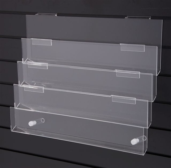 Clear acrylic slat wall four tier perspex greeting card tray buy clear acrylic slat wall four tier perspex greeting card tray m4hsunfo