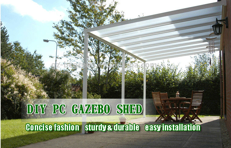 Outdoor Aluminum Garden Gazebo Pergola Prefabricated Patio CoverBeach Sun Shelter Tent : garden tents and gazebos - memphite.com