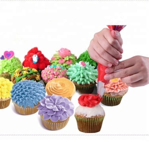 Practical reusable icing piping multi pattern cake decorating stainless steel nozzle tip kit set