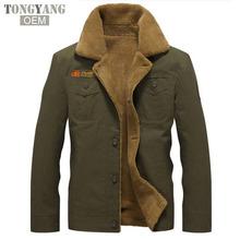 TONGYANG Winter Bomber Jacket Air Force Pilot MA1 Warm fur collar Army Jackets tactical Mens Jacket Size 5XL
