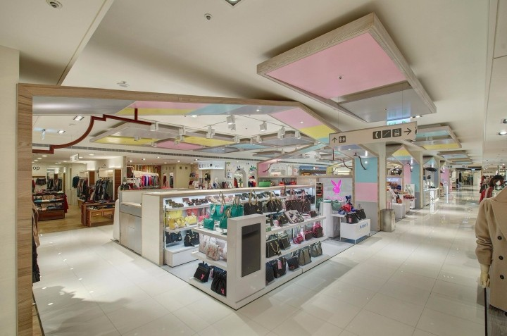 High End Department Store Interior Design Handbag And Cosmetics Retail  Kiosk And Clothing Retail Shop Decoration