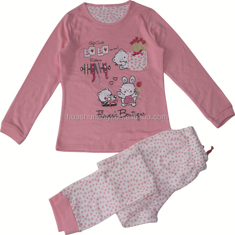 Factory Wholesale cotton Girls and Boy child long sleeve pajamas onesie sleepwear