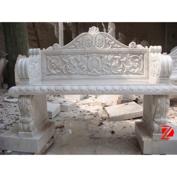 Natural Stone Garden Bench With Back