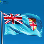 Custom polyester low price Fiji flag for national day celebrate