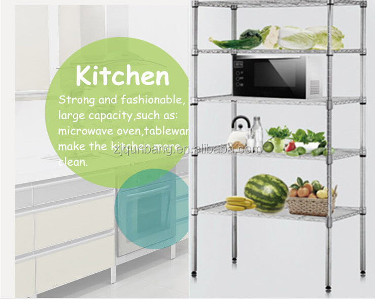 5 Tier Multi Function Metal Wire Shelf Microwave Oven Rack