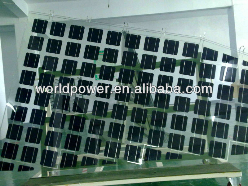 80W 100W Monocrystalline Silicon BIPV Solar Panel Glass