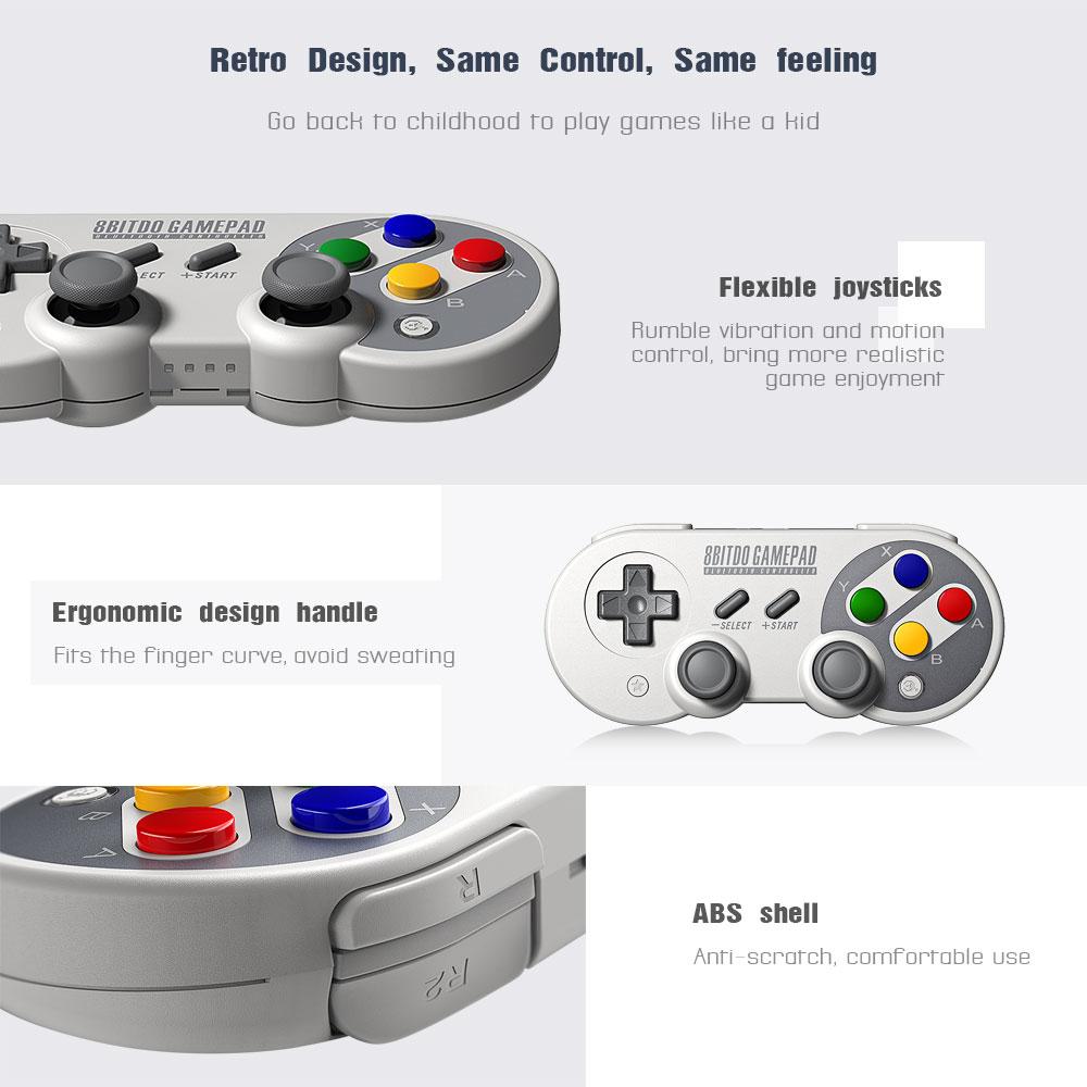 Hot 8bitdo Sf30 Pro Gamepad Controller Joystick For Nintend Switch Windows  Rumble Vibration Motion Controls Usb-c - Buy 8bitdo Sf30 Pro Gamepad,8bitdo