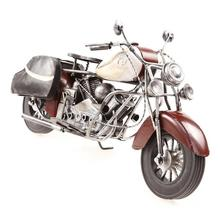 High Quality Antique Handmade Metal Colorful Vintage Carft Motorcycle Model For Home Decoration And Business Gifts