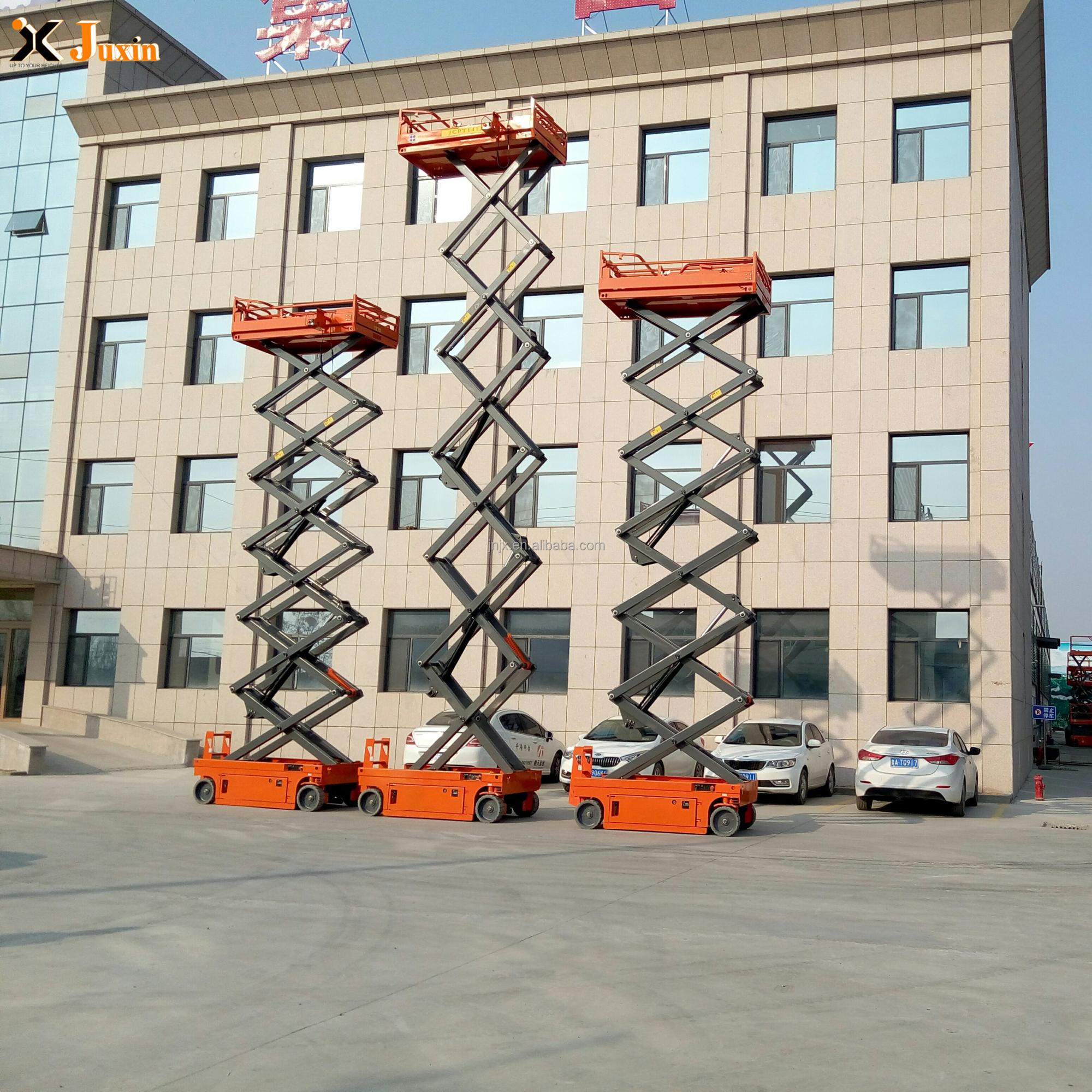 large discount price ce approved scissor self propelled hydraulic electric lift platform genie for sale