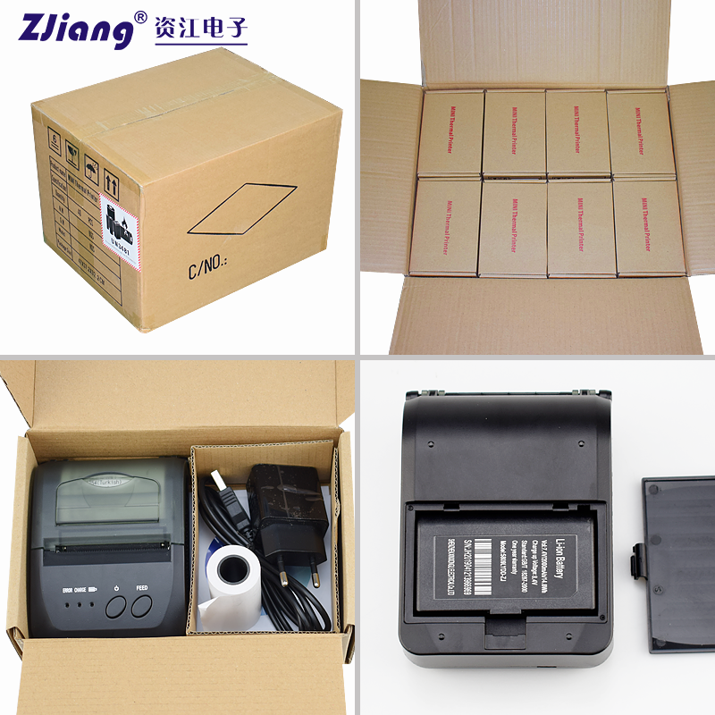 mini heat transfer printer hand thermal printer receipt 1500MAh support Android IOS