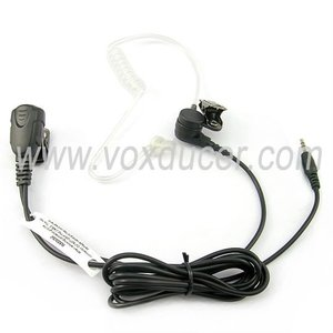 [E1802-HF]Wired acoustic clear tube ear hook earpiece/earphone/microphone with mic for HOFFER VHF UHF walkie talkie