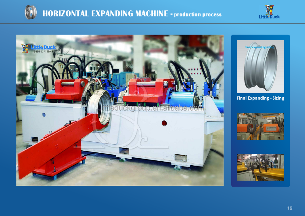 Automatic Wheel Rim Expanding and Sizing Machine