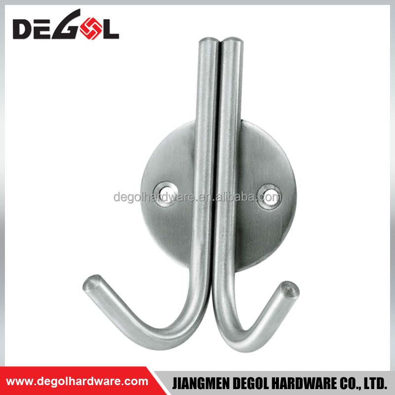 Top quality stainless steel bathroom decorative door mounted clothes hanging hook