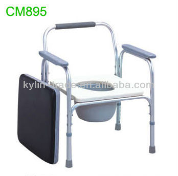 Chromed Steel Commode Toilet Chair For Disabled People Cm895 - Buy ...