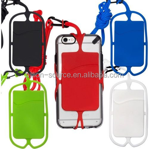 New products 2016 innovative product silicone cell phone lanyard
