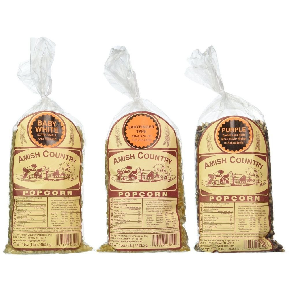 Amish Country Popcorn 1Lb Bags Set of 3