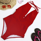 Fast Delivery Low Back Red Swimwear Sexy One Piece Swimsuit For Women